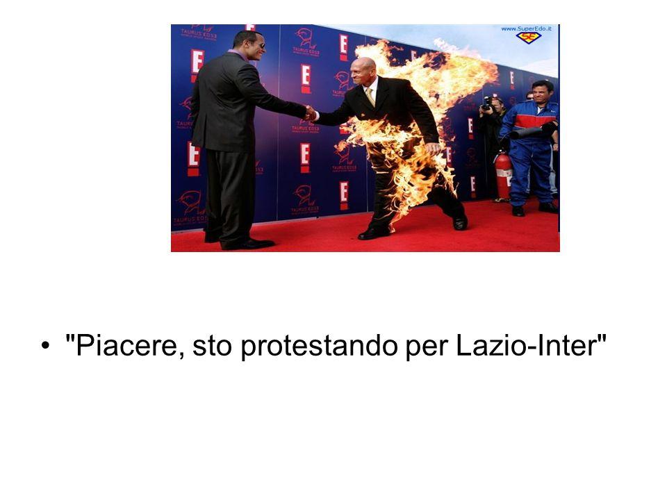 Piacere, sto protestando per Lazio-Inter