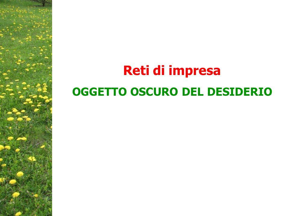 Reti di impresa OGGETTO OSCURO DEL DESIDERIO