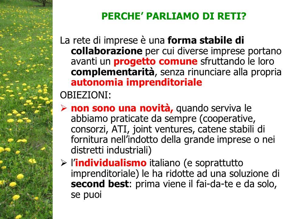 PERCHE' PARLIAMO DI RETI.