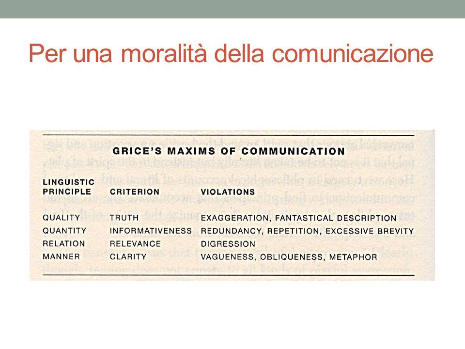 Per una moralità della comunicazione