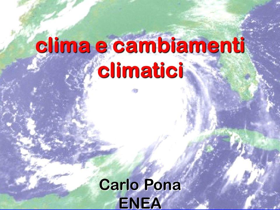 clima e cambiamenti climatici Carlo Pona ENEA