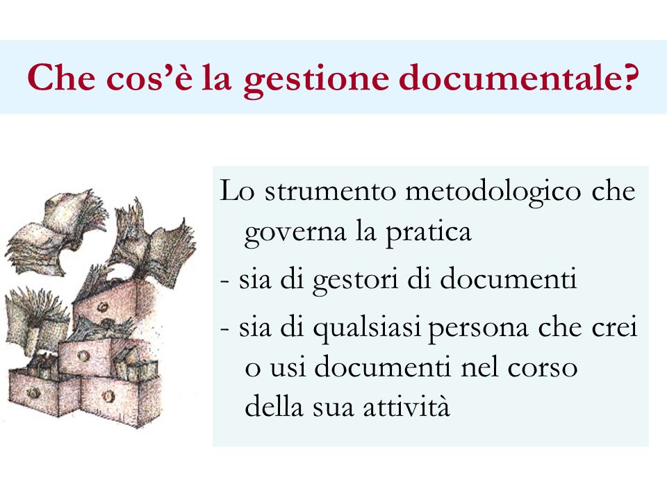 Che cos'è la gestione documentale.