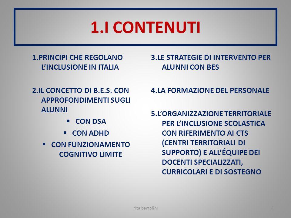 PRINCIPI REGOLATIVI DELL'INCLUSIONE È DIVENTATO UN MODELLO L.