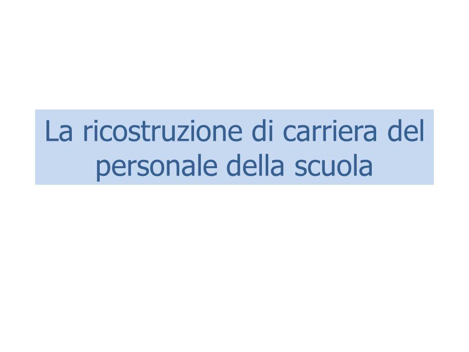 Decreto di ricostruzione Per effetto dell'art.14 del D.P.R.