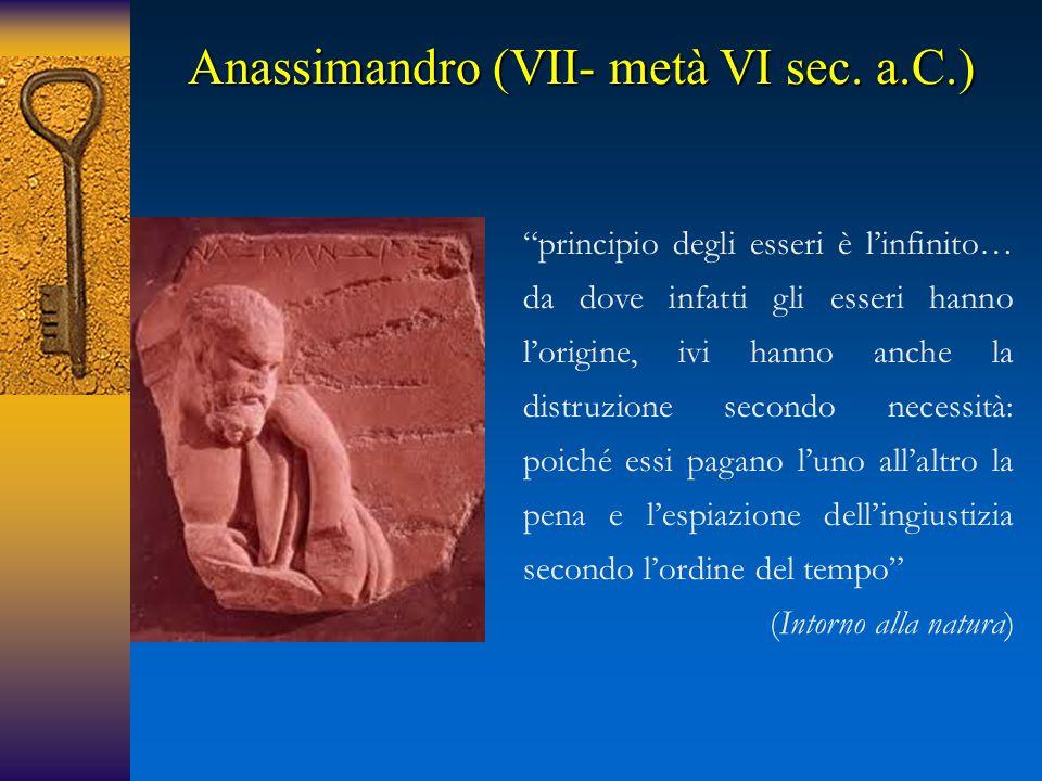Anassimandro (VII- metà VI sec.