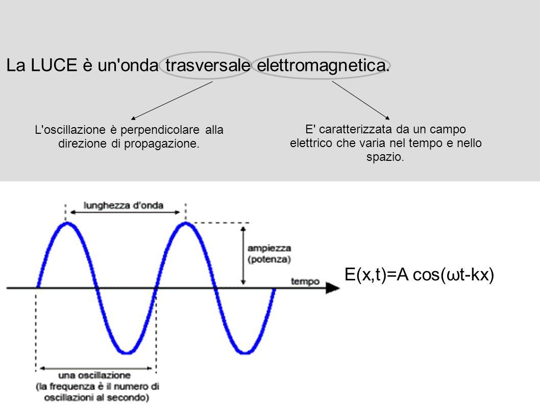La LUCE è un onda trasversale elettromagnetica.