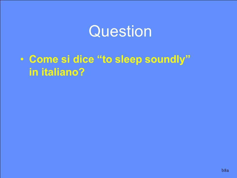 Si dice dormire profondamente