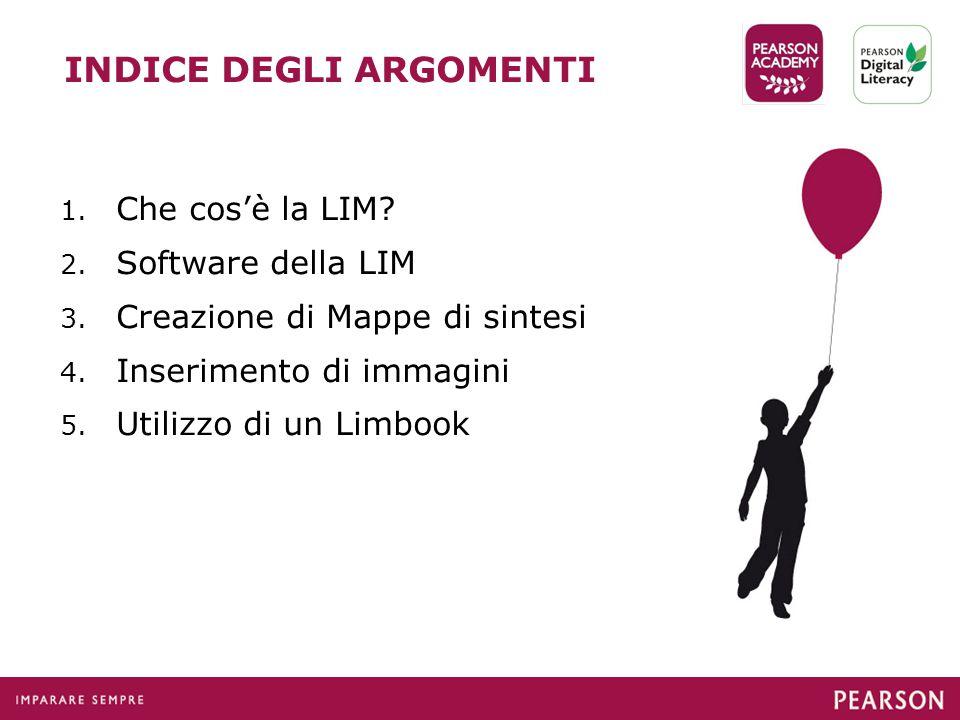 INDICE DEGLI ARGOMENTI 1.Che cos'è la LIM. 2. Software della LIM 3.