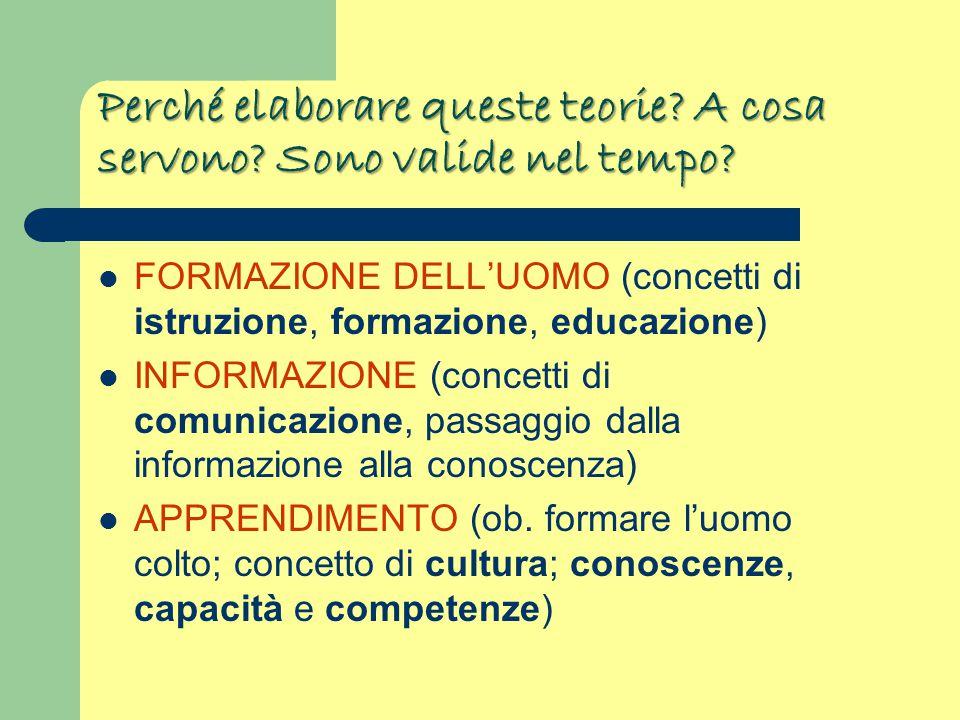 riflessione le teorie nascono dalla riflessione CRITICO-FILOSOFICA Questo spiega perché la Pedagogia possiede una valenza CRITICO-FILOSOFICA Si serve delle SCIENZE (interdisciplinarità) Valorizza e riflette sulle ESPERIENZE Applica METODI Possiede FINALITÁ Sensibile ai BISOGNI e ai PROBLEMI