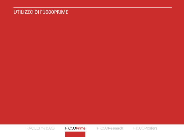 UTILIZZO DI F1000PRIME