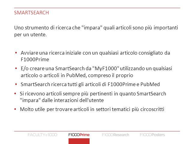 SMARTSEARCH Uno strumento di ricerca che impara quali articoli sono più importanti per un utente.