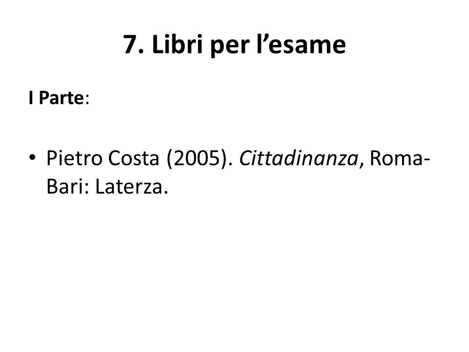 Libri per l'esame II.Parte Simonetta Agnello Hornby, Marina Calloni (2013).