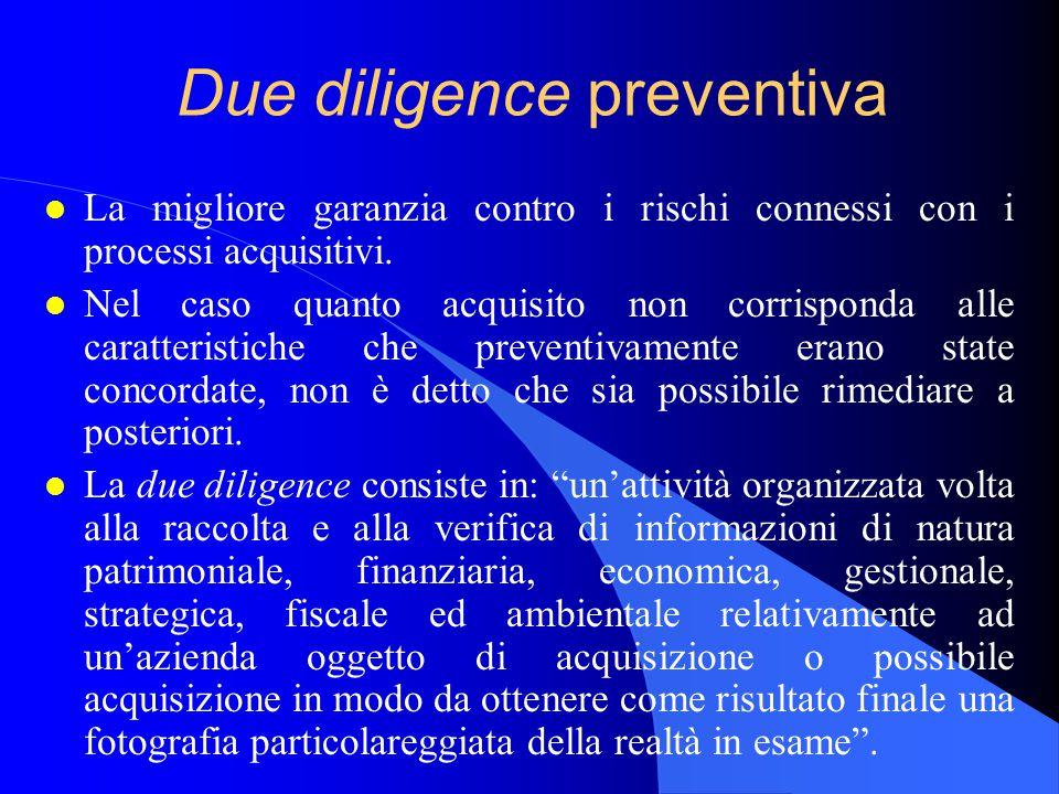 Due diligence preventiva l La migliore garanzia contro i rischi connessi con i processi acquisitivi.