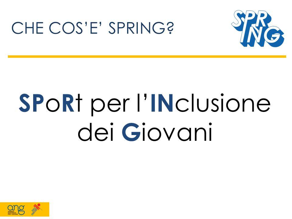 NOI DI SPRING 4 Coordinatori 11 Volontari Tutti appassionati di sport!