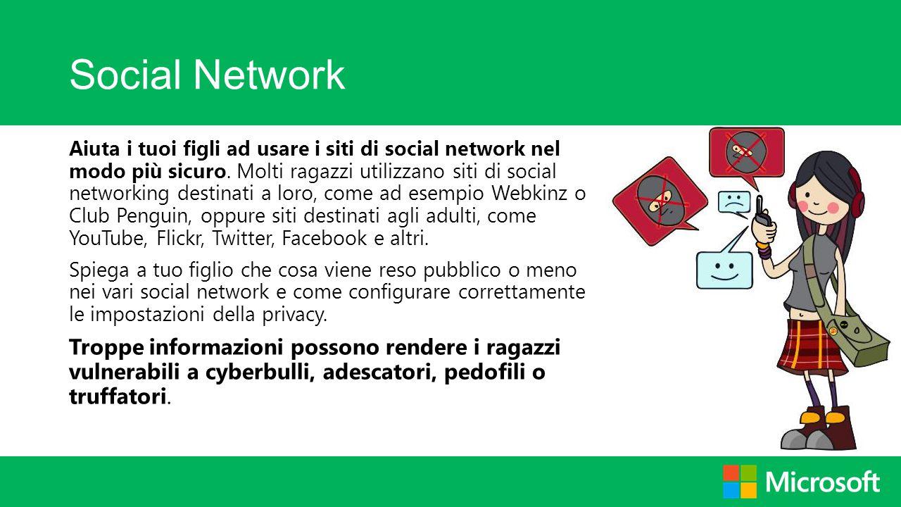 Social Network Aiuta i tuoi figli ad usare i siti di social network nel modo più sicuro. Molti ragazzi utilizzano siti di social networking destinati