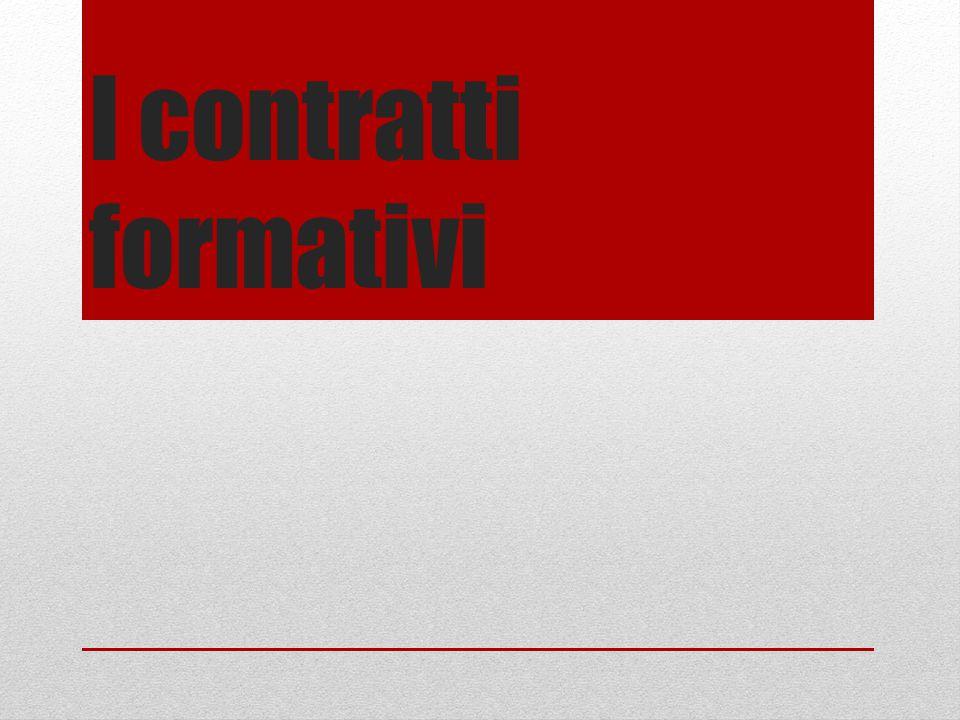 I contratti formativi