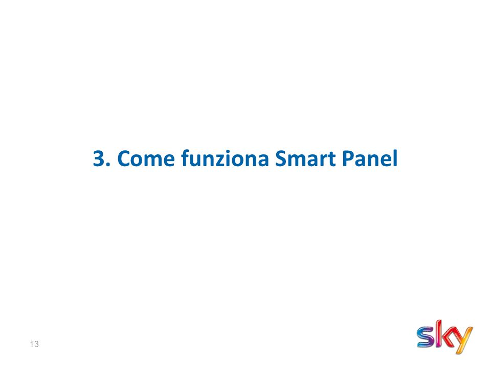 13 3. Come funziona Smart Panel
