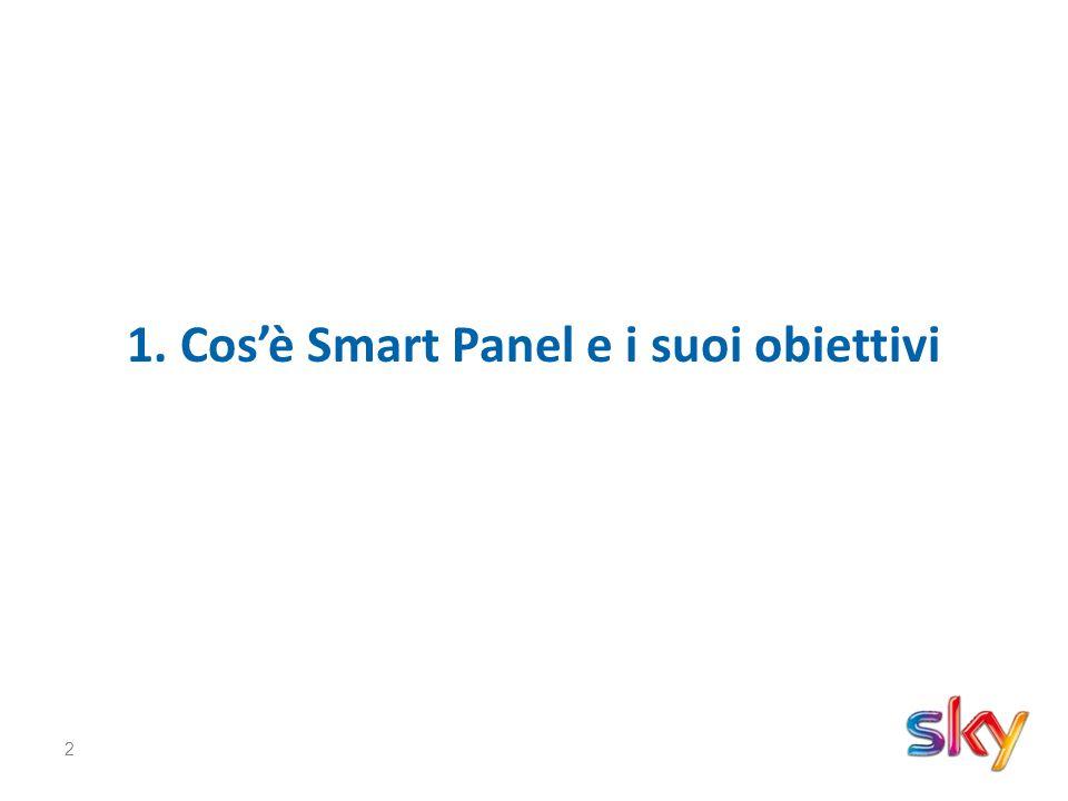 3 Cos'è Smart Panel E' un sistema di rilevazione degli ascolti che misura l'audience di tutti i canali della piattaforma Sky su un campione di 10mila famiglie abbonate.