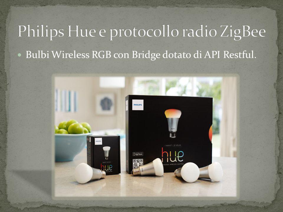 Bulbi Wireless RGB con Bridge dotato di API Restful.