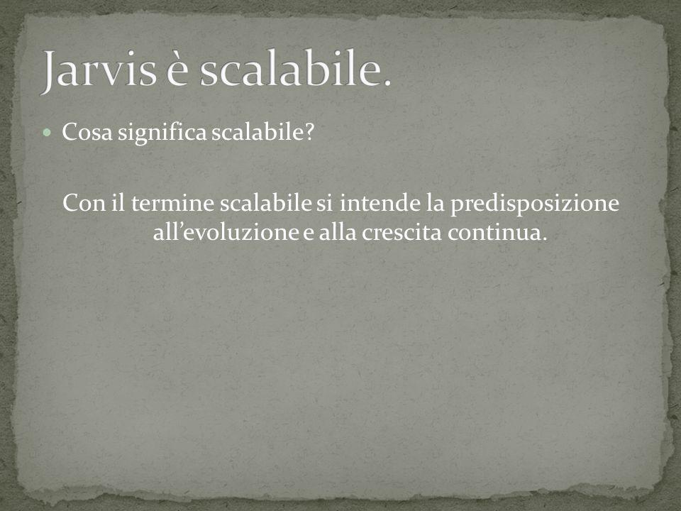 Cosa significa scalabile.