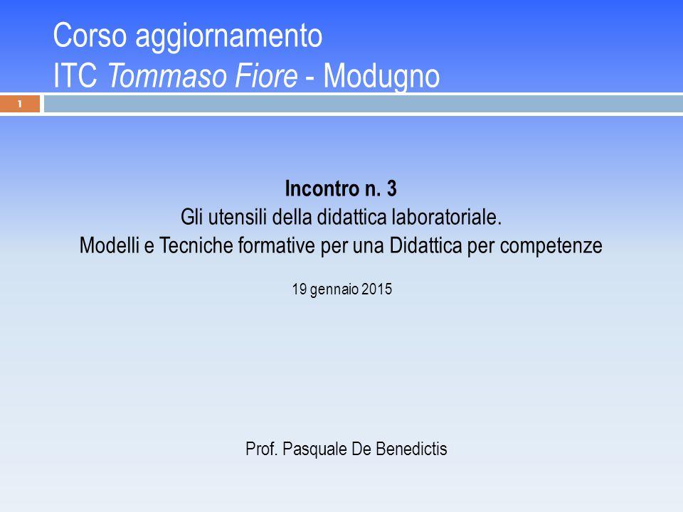 Corso aggiornamento ITC Tommaso Fiore - Modugno Incontro n.