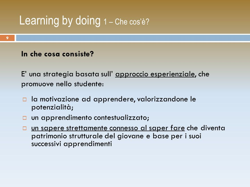 WebQuest 7 – Classificazione dei Compiti Schema di classificazione delle attività di WQ: (fonte WebQuest Taskonomy Bernie Dodge, 2002) Reportage giornalistico (Journalistic Tasks) Lavoro creativo (Creative Product Tasks) Progettare il compito (Design Tasks) Risolvere un mistero (Mystery Tasks) Analizzare e classificare (Compilation Tasks) Ricerca scientifica (Scientific Tasks) Costruire il consenso (Consensus Building Tasks) Persuadere (Persuasion Tasks) Analizzare (Analytical Tasks) Giudicare (Judgment Tasks) Ridefinire un argomento (Retelling Tasks) Apprendere da soli (Self-Knowledge Tasks) 60