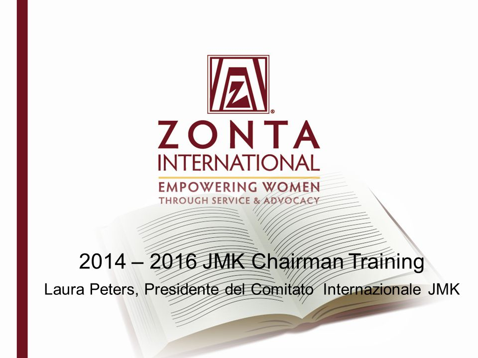 2014 – 2016 JMK Chairman Training Laura Peters, Presidente del Comitato Internazionale JMK
