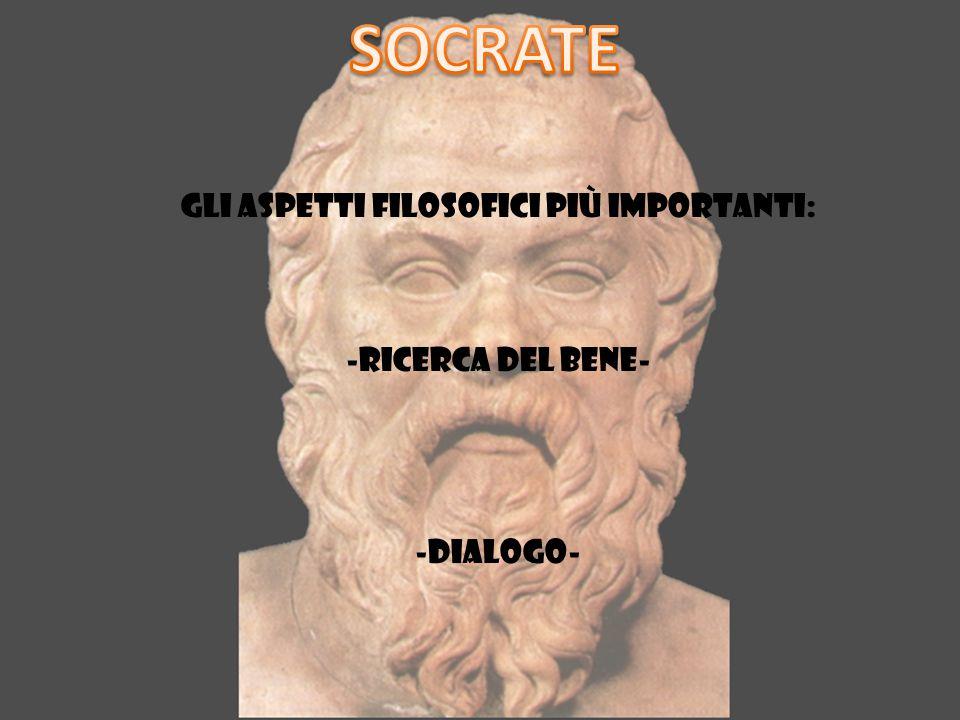 Gli aspetti filosofici più importanti: -ricerca del bene- -dialogo-