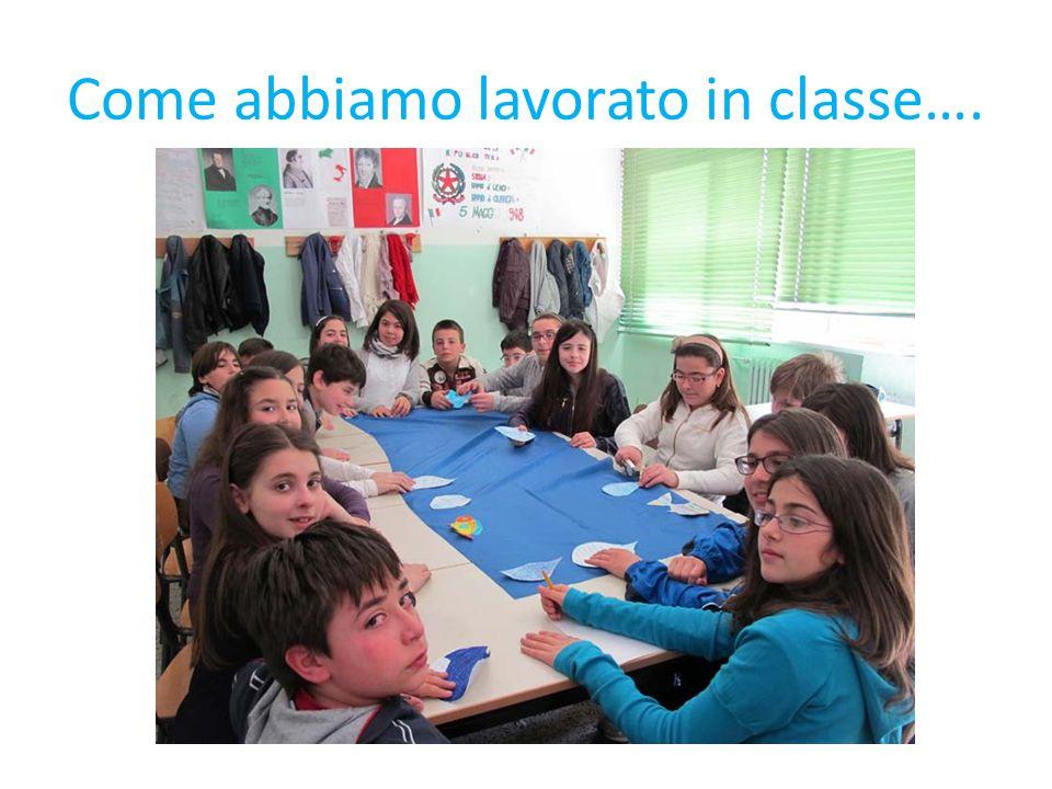 Come abbiamo lavorato in classe….