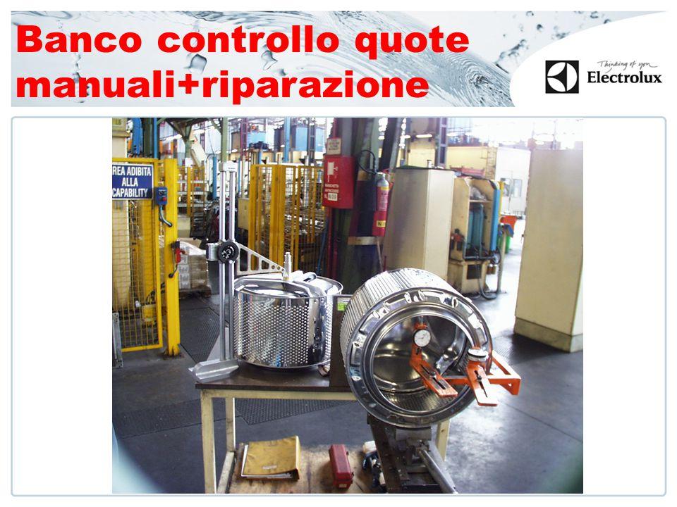 Banco controllo quote manuali+riparazione
