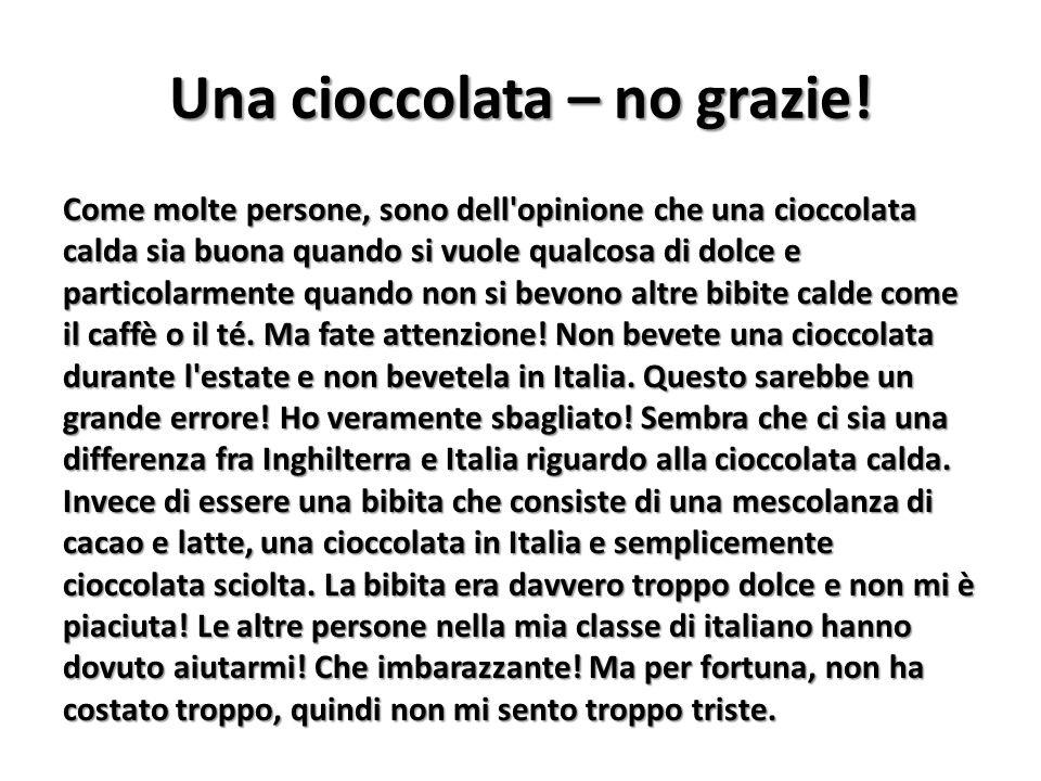 Come molte persone, sono dell'opinione che una cioccolata calda sia buona quando si vuole qualcosa di dolce e particolarmente quando non si bevono alt