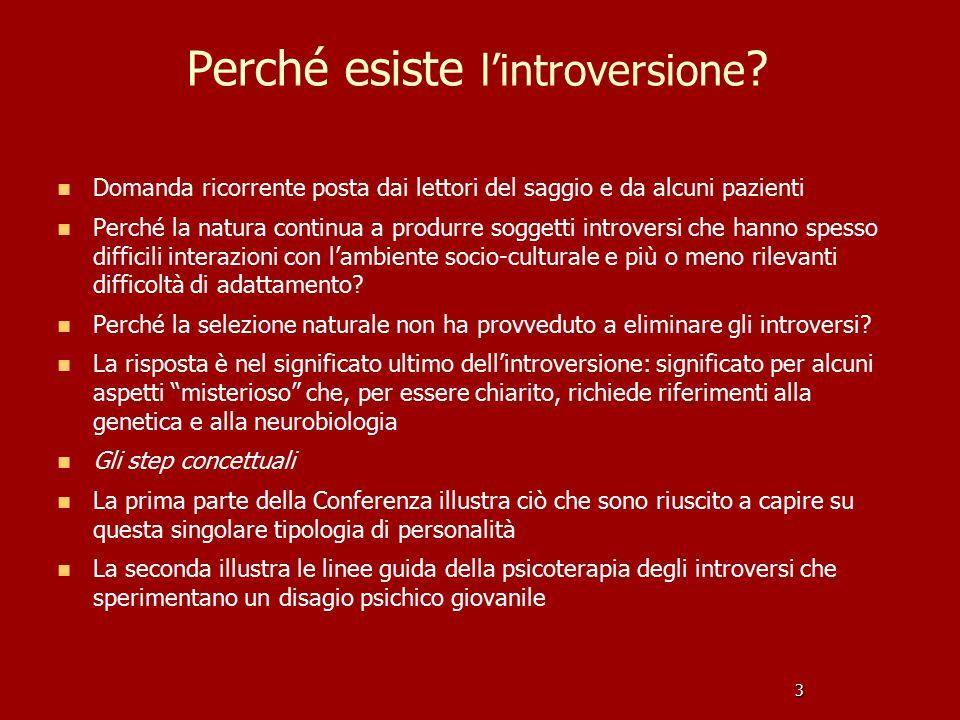 Perché esiste l'introversione .