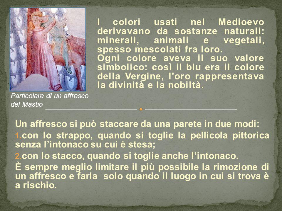 I colori usati nel Medioevo derivavano da sostanze naturali: minerali, animali e vegetali, spesso mescolati fra loro. Ogni colore aveva il suo valore