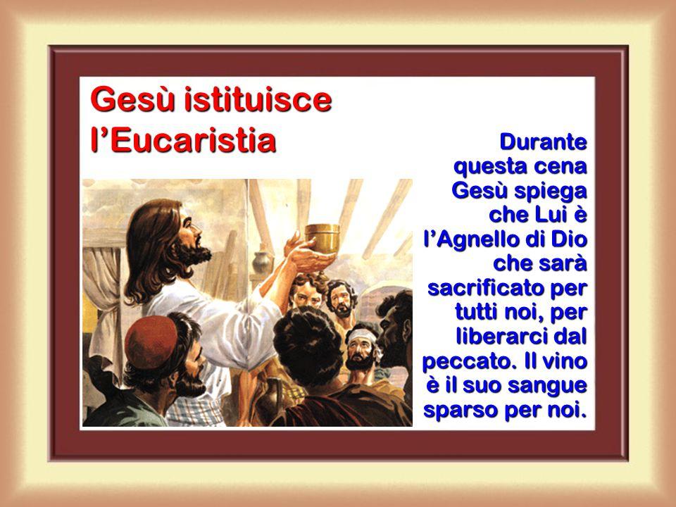 L'Ultima Cena di Gesù Gesù volle, prima di passare da questo mondo al Padre, riunirsi con gli apostoli per un'ultima cena.