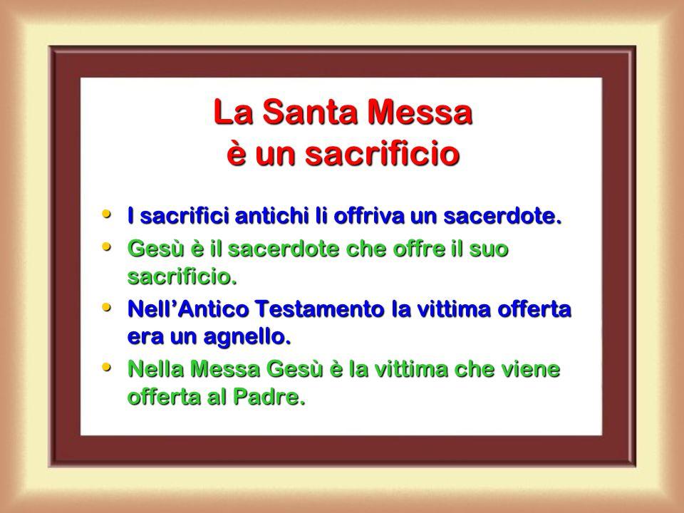 Gesù istituisce l'Eucaristia Durante questa cena Gesù spiega che Lui è l'Agnello di Dio che sarà sacrificato per tutti noi, per liberarci dal peccato.