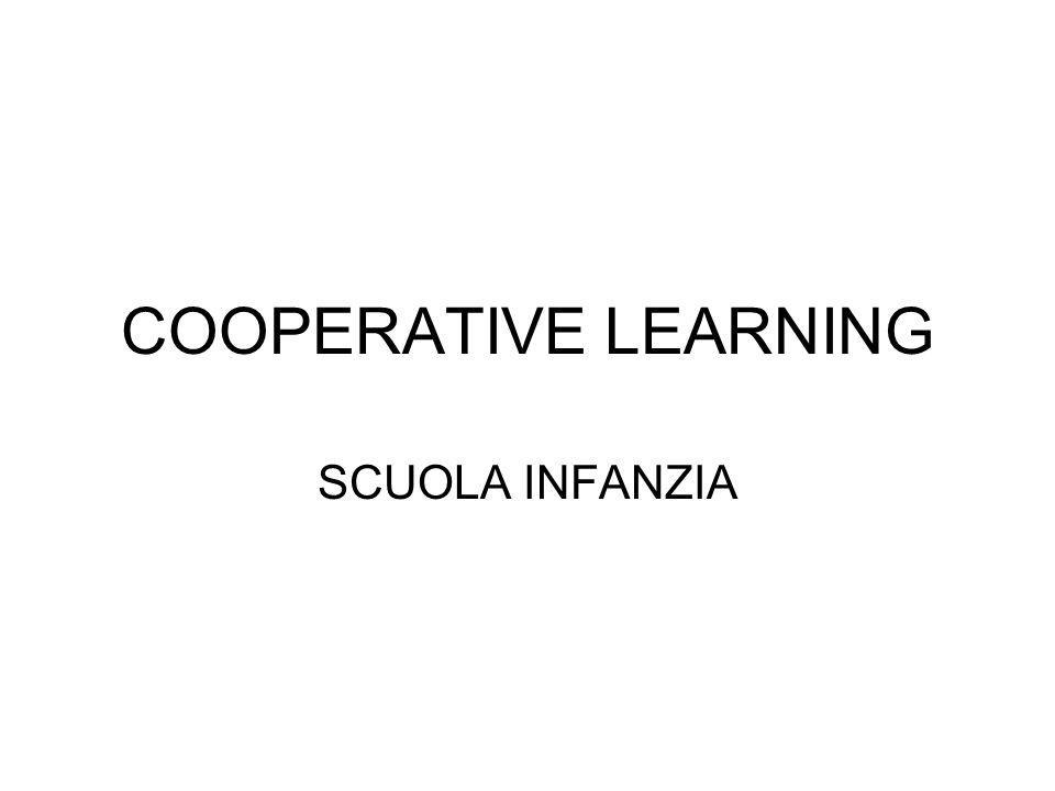 Obiettivo del progetto migliorare il rendimento scolastico, favorire il processo di socializzazione e potenziare le abilità relazionali di ciascuno attraverso il lavoro di gruppo Partecipanti: 21 bambini di cinque anni