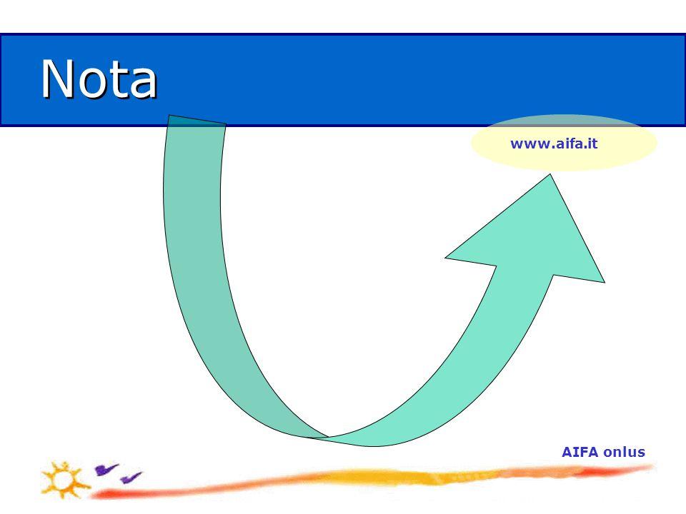 AIFA onlus Nota www.aifa.it