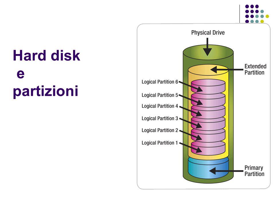 Hard disk e partizioni