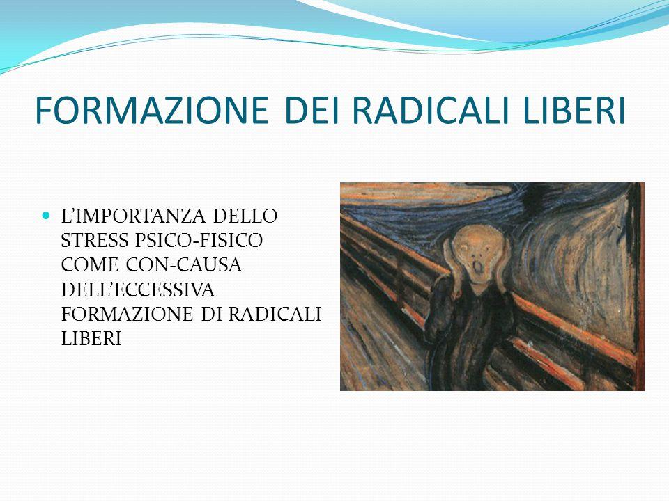 FORMAZIONE DEI RADICALI LIBERI L'IMPORTANZA DELLO STRESS PSICO-FISICO COME CON-CAUSA DELL'ECCESSIVA FORMAZIONE DI RADICALI LIBERI