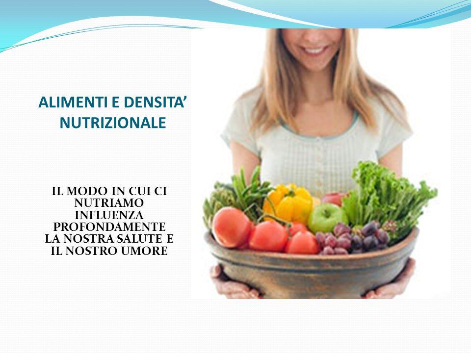 ALIMENTI E DENSITA' NUTRIZIONALE IL MODO IN CUI CI NUTRIAMO INFLUENZA PROFONDAMENTE LA NOSTRA SALUTE E IL NOSTRO UMORE