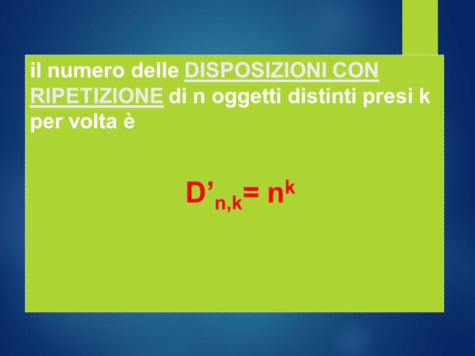 D' n,k = n k