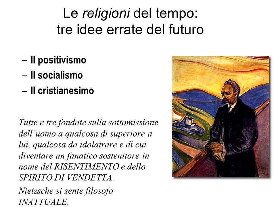 Le religioni del tempo: tre idee errate del futuro – Il positivismo – Il socialismo – Il cristianesimo Tutte e tre fondate sulla sottomissione dell'uo