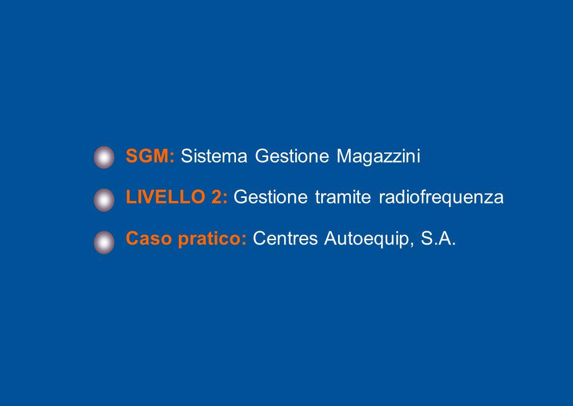 2 SGM: Sistema Gestione Magazzini LIVELLO 2: Gestione tramite radiofrequenza Caso pratico: Centres Autoequip, S.A.