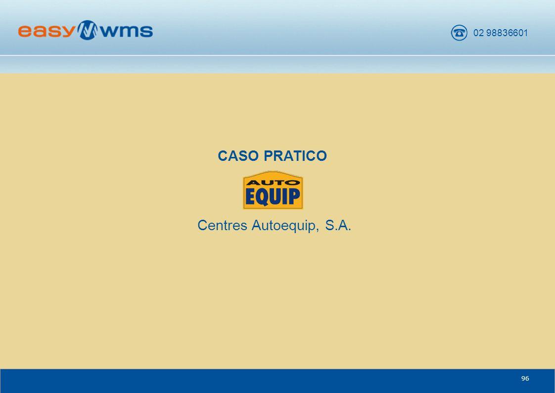02 98836601 96 CENTRES AUTOEQUIP, S.A. CASO PRATICO Centres Autoequip, S.A.