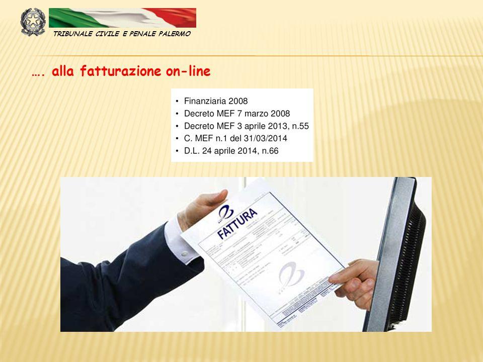 …. alla fatturazione on-line TRIBUNALE CIVILE E PENALE PALERMO