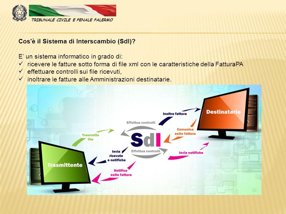 Cos'è il Sistema di Interscambio (SdI)? E' un sistema informatico in grado di: ricevere le fatture sotto forma di file xml con le caratteristiche dell