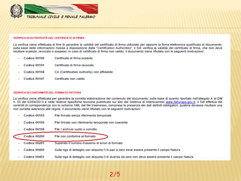 TRIBUNALE CIVILE E PENALE PALERMO 2/5