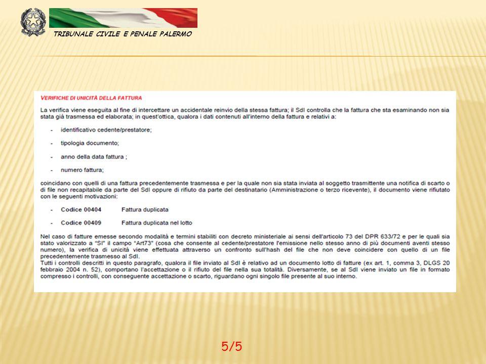 TRIBUNALE CIVILE E PENALE PALERMO 5/5