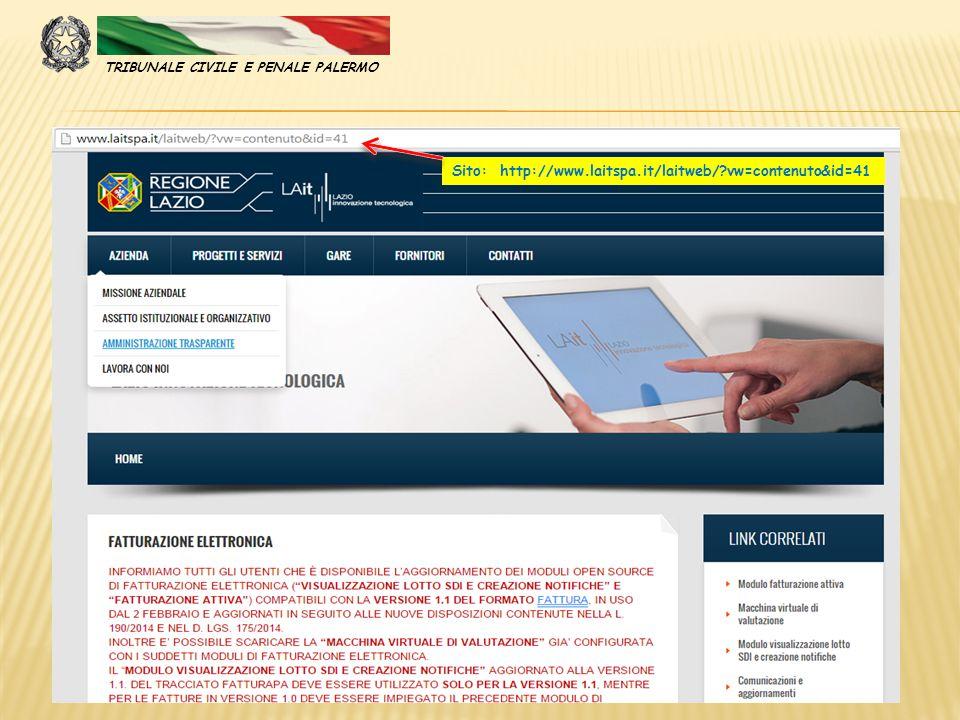 Sito: http://www.laitspa.it/laitweb/?vw=contenuto&id=41 TRIBUNALE CIVILE E PENALE PALERMO