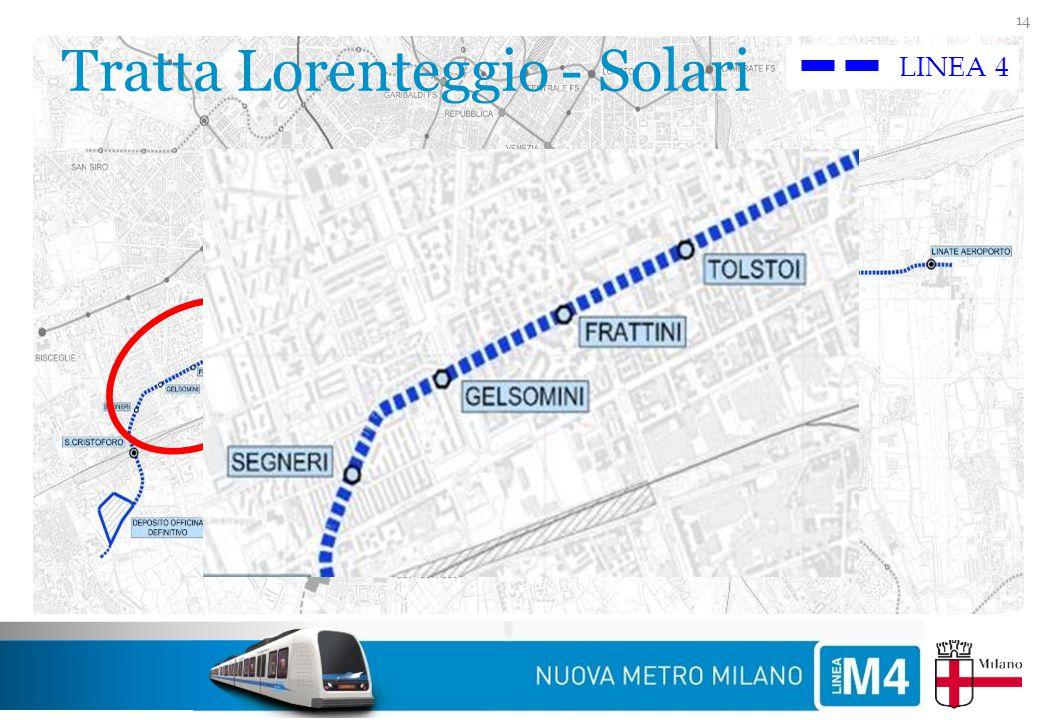 Tratta Lorenteggio - Solari 14 LINEA 4